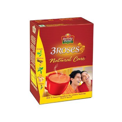 Picture of 3 Roses Natural Care Tulsi, Ginger, Cardamom Tea Box  (250 g)